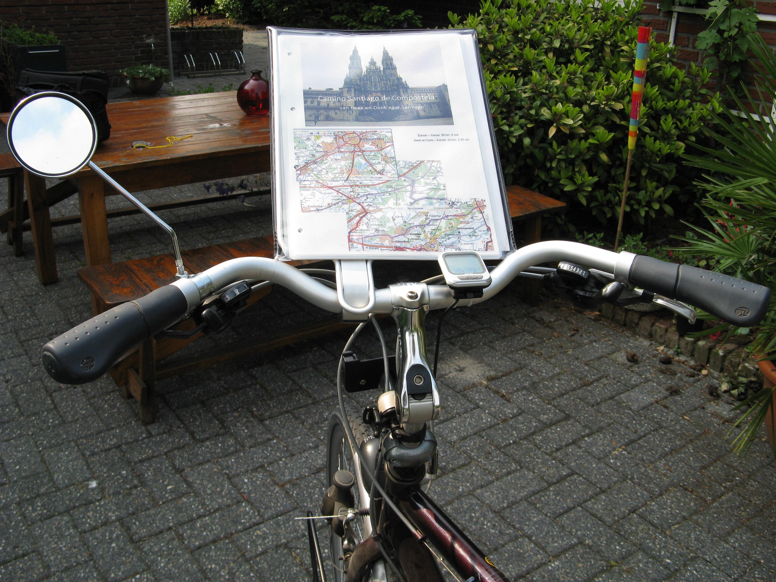 Spiegel Voor Fiets : De fiets u de pelgrimstocht naar santiago per fiets