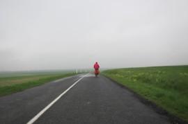 In de regen naar Troyes fietsen is niet zo leuk.