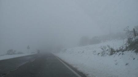 18 mei 2013, het is zeer koud op weg naar O`Cebreiro.