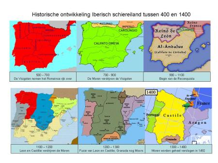 Iberisch schiereiland tussen 400 en 1400