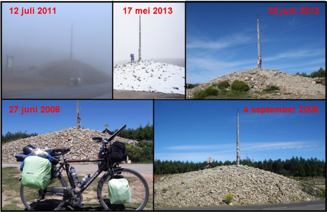 Vijf keer Cruz de Ferro (Hierro) op 1505 meter.