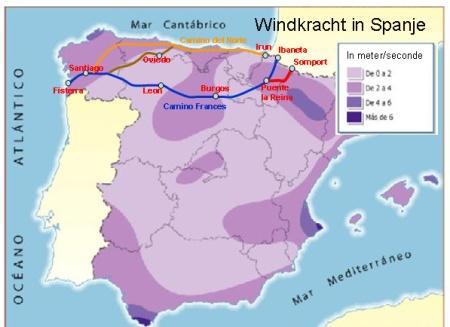 Windkracht in Spanje. Op de Meseta kan het flink waaien.