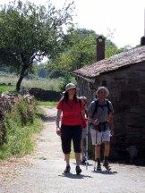 Caminotoeristen nabij Ligonde