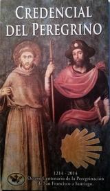 Voorblad van het speciale Franciscaner pelgrimspaspoort uit 2014