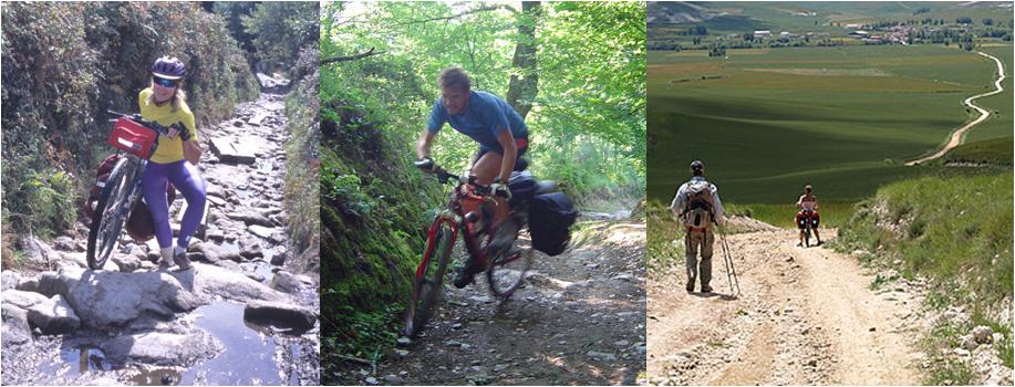 Met de mountainbike de Camino volgen is een uitdaging