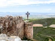 Uitzicht vanaf kasteel in Clavijo