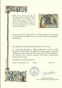 Compostela certificado alternativo 2014