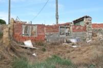 Naargeestige bouwval in Castrojeriz.